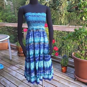 ny collection Crinkle Maxi Dress/Skirt Small NWT